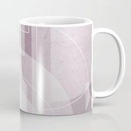 Abstract Semi Circle Design in Musk Mauve Coffee Mug