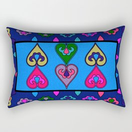 Colorful Ethnic Indian Valentines Rectangular Pillow