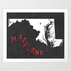 Maryland State Map Art Print