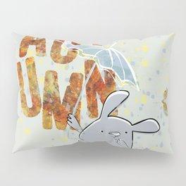 Hop, little bunny - autumn Pillow Sham