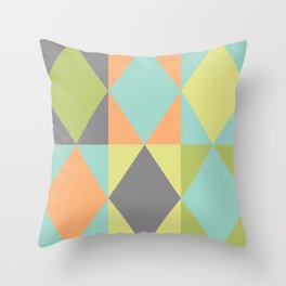 Diamond shapes in modern colors Throw Pillow