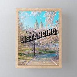 Social Distancing New York Framed Mini Art Print
