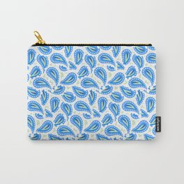 Paisley seamless pattern in blue Carry-All Pouch