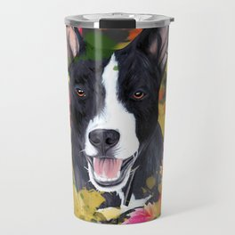 Black pup Travel Mug