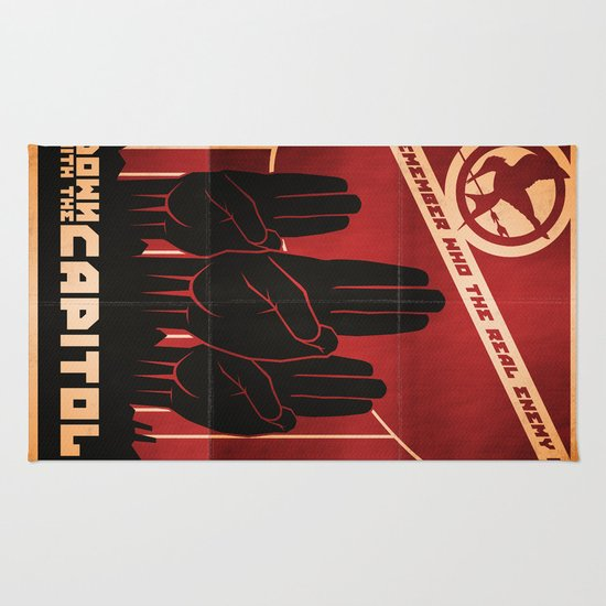 Down With The Capitol - Propaganda Rug