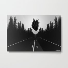 Black Heart Road Metal Print