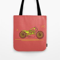 bike Tote Bags featuring Bike by Daniella Gallistl