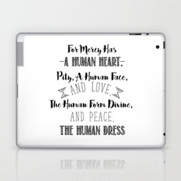 The human form divine, and peace, the human dress - Divine Mercy Sunday Laptop & iPad Skin