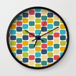 Muiti-Colored Squares Wall Clock