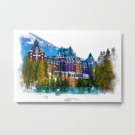 Castle in the Mountains - Banff Alberta Canada Metal Print