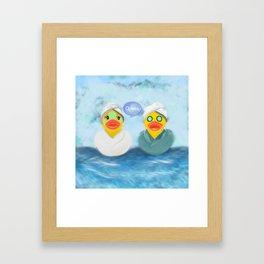 Quacks to give Framed Art Print