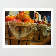 Bushels of Apples Art Print