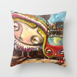 City Cat Throw Pillow