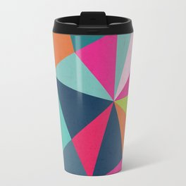 Geometric Triangle Pattern  - Spring Color Palette - Travel Mug