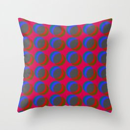 B.L.I.N.K. - optical illusion in red and blue Throw Pillow