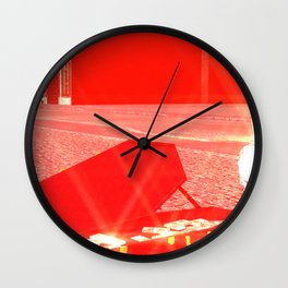 SquaRed: Give some Cash to Poor Musician Wall Clock