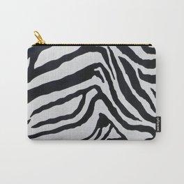 ZEBRA STRIPE PATTERN BLACK & WHITE Carry-All Pouch