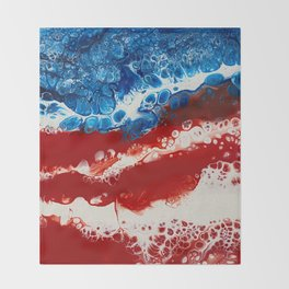 Patriotic Acrylic Throw Blanket