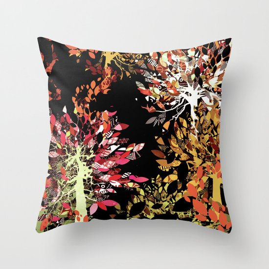 Collage pattern II Throw Pillow