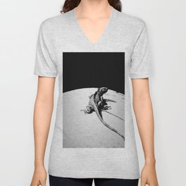 Lizard on Concrete Unisex V-Neck