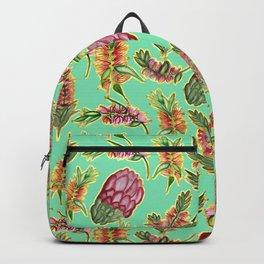 Australian Native Floral Pattern - Bottlebrush and Protea Backpack