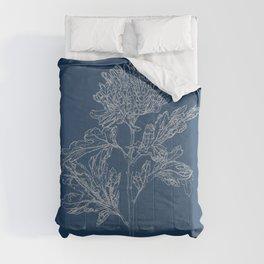 Chrysanthemum Blueprint Comforters