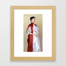 """John Singer Sargent """"Portrait of Mrs. Robert Harrison"""" Framed Art Print"""