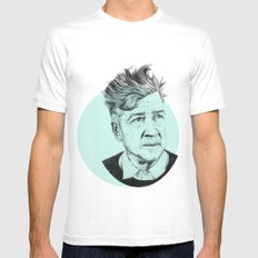 David Lynch White Mens Fitted Tee MEDIUM