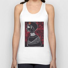 Tribal woman with traditional patterns Unisex Tank Top