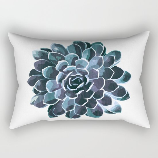 Succulent Echeveria I Rectangular Pillow