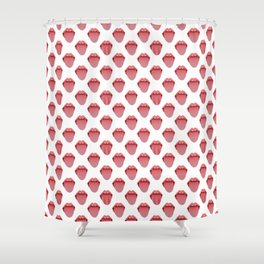 Tongue and mouth Shower Curtain