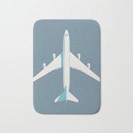 747 Jumbo Jet Airliner Aircraft - Slate Bath Mat