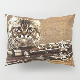 Music was my first love - cat and bassoon Pillow Sham
