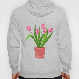 pink tulips in the pot Hoody