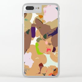 Sketch time - cutout texture Clear iPhone Case