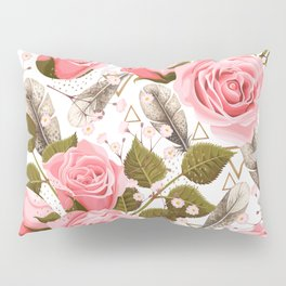 Flowers with feathers Pillow Sham