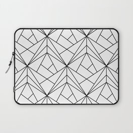 Black and White Geometric Pattern Laptop Sleeve