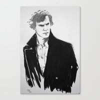 cumberbatch Canvas Prints featuring Benedict Cumberbatch by Nina Viola