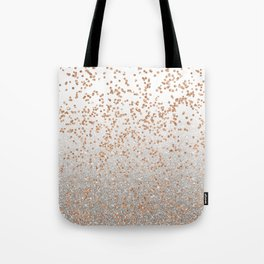 Glitter sparkle mix - rose gold & silver Tote Bag