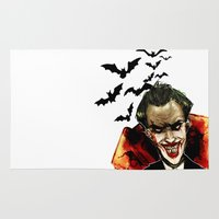 the joker Area & Throw Rugs featuring Joker by chazstity