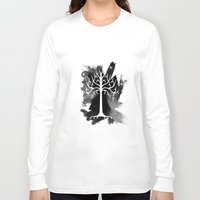 gondor Long Sleeve T-shirts featuring White Tree Of Gondor by Icarusdie