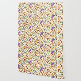 Sewing pattern Wallpaper