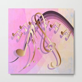 Feel the music Metal Print