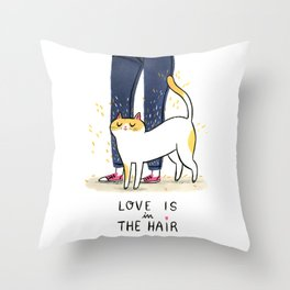 Love is in the hair Throw Pillow