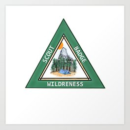 Wilderness Badge Art Print
