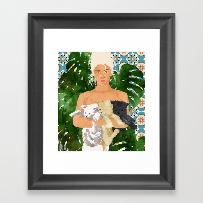 Morocco Vacay #illustration #painting Framed Art Print
