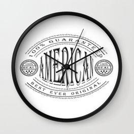 100% American (black badge on white) Wall Clock