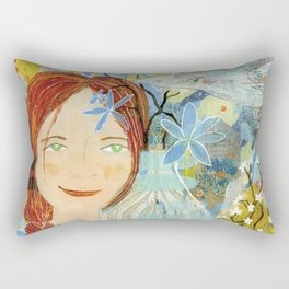 Patti's Flowers Rectangular Pillow