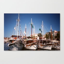 Yachting about Canvas Print