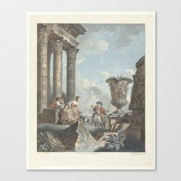 Antieke ruïnes, Jean François Janinet, Giovanni Paolo Pannini, 1762 - 1798 Canvas Print